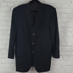 Pour Homme Balenciaga wool pin striped jacket